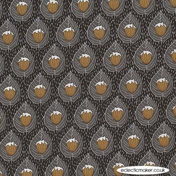 Michael Miller Fabric - Forest Gifts - Last Hazelnut in Bark