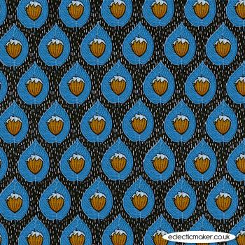 Michael Miller Fabric - Forest Gifts - Last Hazelnut in Indigo
