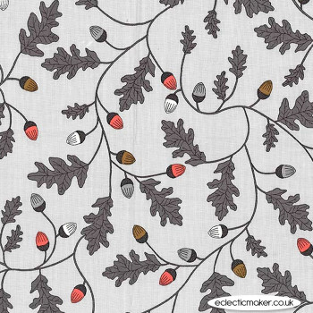 Michael Miller Fabric - Forest Gifts - Mysterious Oak in Cloud