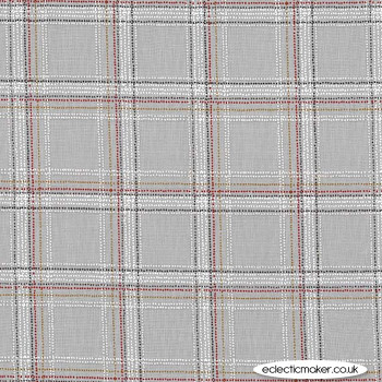 Michael Miller Fabric - Forest Gifts - Spotted Tartan in Stone