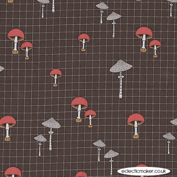 Michael Miller Fabric - Forest Gifts - Wild Mushrooms in Bark