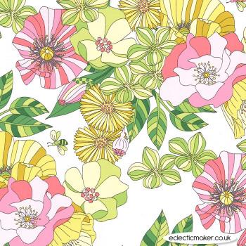 Michael Miller Fabric - Joy - Grandiflora in Bloom