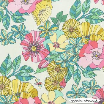 Michael Miller Fabric - Joy - Grandiflora in Sprout