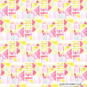 Michael Miller Fabric - Joy - Shape Parade in Flower