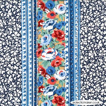 Michael Miller - Kashmir Garden - Lacery in Denim