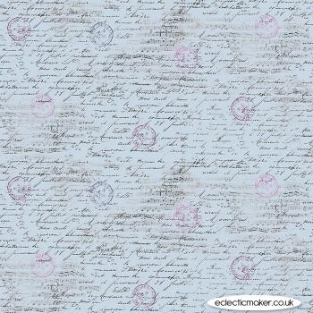 Michael Miller Fabrics - La Parisienne - Travel Notes on Blue