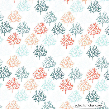 Michael Miller Fabric - Strawberry Tea - Arbres in Robins Egg
