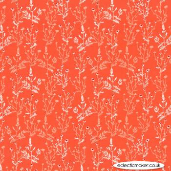 Michael Miller Fabric - Strawberry Tea - Herbal Tea in Apricot