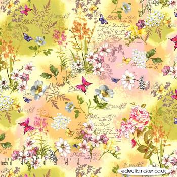 Michael Miller Fabrics - Mon Ami - Memoirs in Yellow