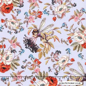 Michael Miller Fabric - Elderberry Flower Fairies in Lavender