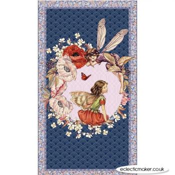 Michael Miller Fabric - Elderberry Flower Fairies Fabric Panel in Multi