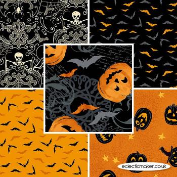 Makower Fabrics - Midnight Haunt - Fabric Bundle