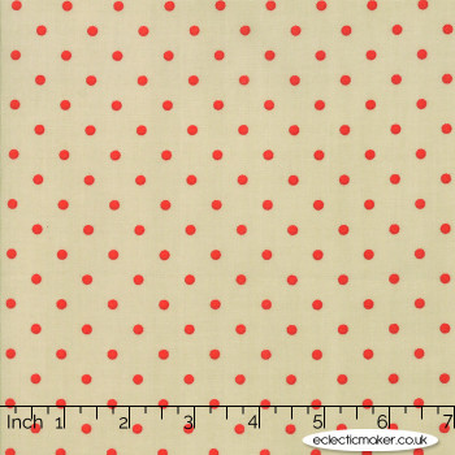 Moda Fabrics - 101 Maple Street - Deep Dish Dots in Pale Sage