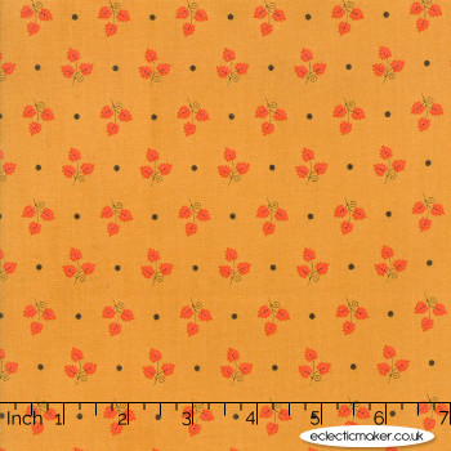 Moda Fabrics - 101 Maple Street - Maple Leaves in Acorn