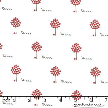 Moda Fabrics - 101 Maple Street - Maple Trees in Marsh Cream
