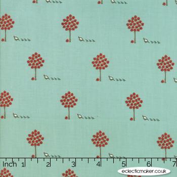 Moda Fabrics - 101 Maple Street - Maple Trees in Seafoam