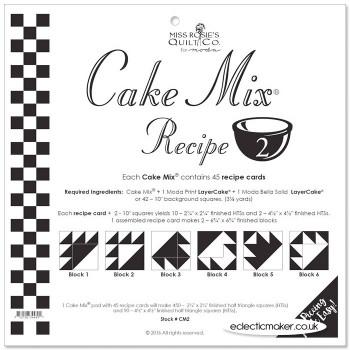 Moda Cake Mix Recipe 2 - Miss Rosie's Quilt Co