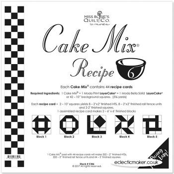 Moda Cake Mix Recipe 6 - Miss Rosie's Quilt Co