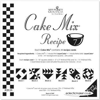 Moda Cake Mix Recipe 7 - Miss Rosie's Quilt Co