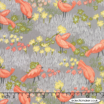 Moda Fabrics - Dandi Annie - Little Birds in Pebble