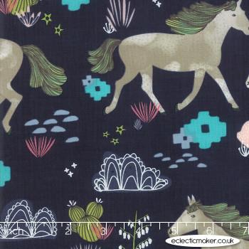 Moda Fabrics - Desert Song - Wild At Heart in Denim