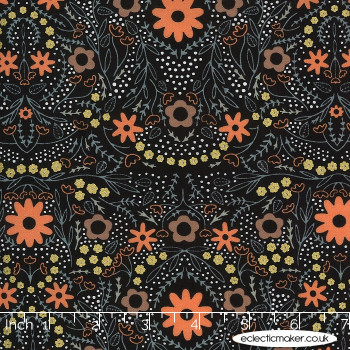 Moda Fabrics - Dwell in Possibility - Full Bloom in Night Metallic