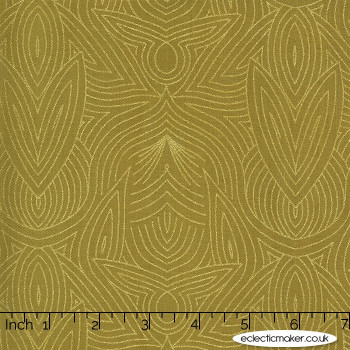 Moda Fabrics - Dwell in Possibility - Nouveau in Umber Metallic
