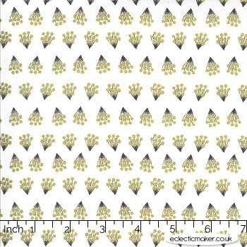 Moda Fabrics - Dwell in Possibility - Tiny Bouquets in Ivory Metallic