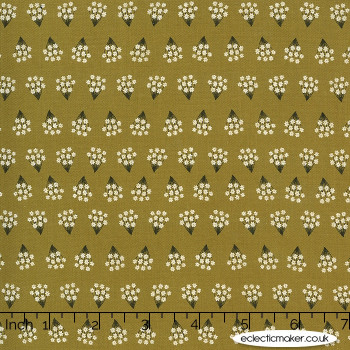 Moda Fabrics - Dwell in Possibility - Tiny Bouquets in Umber