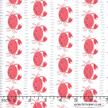 Moda Fabrics - Ahoy - Crabs in Lobster
