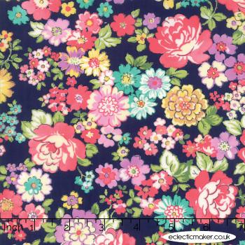Moda Fabrics - Regent Street Lawns 2018 - Chelsea in Navy