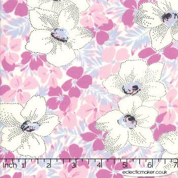 Moda Fabrics - Fine and Sunny - Alstroe in Blueberry Crush