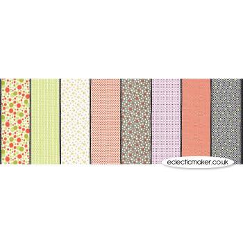 Moda Fabrics - Fine and Sunny Lollies in Persimmon - Jen Kingwell