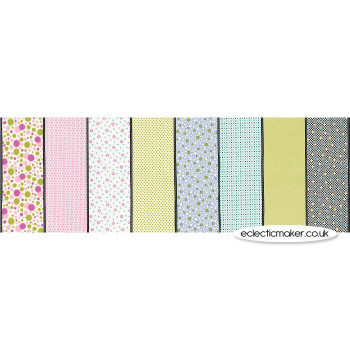 Moda Fabrics - Fine and Sunny Lollies in Pistachio - Jen Kingwell