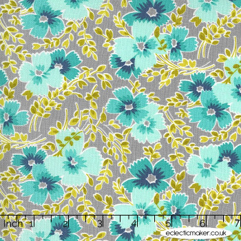 Moda Fabrics - Flowers for Freya - Breezy Blooms in Foggy