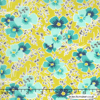 Moda Fabrics - Flowers for Freya - Breezy Blooms in Sprout