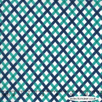 Moda Fabrics - Flowers for Freya - Picnic in Bluebird