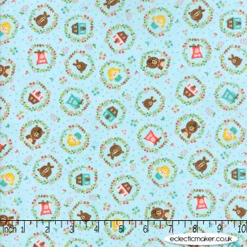 Moda Fabrics - Home Sweet Home - Goldies Story in Sky