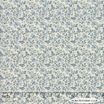 Moda Fabrics - Le Beau Papillon - Aricia in Pearl Blue