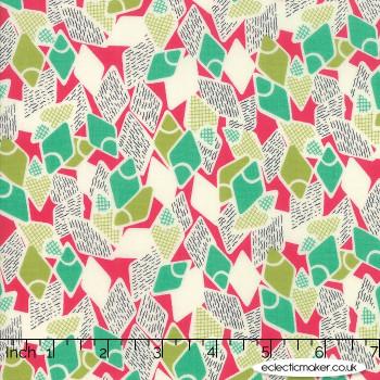 Moda Fabrics - Looking Forward - Flip Flops in Azalea