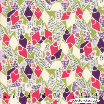 Moda Fabrics - Looking Forward - Flip Flops in Pesto
