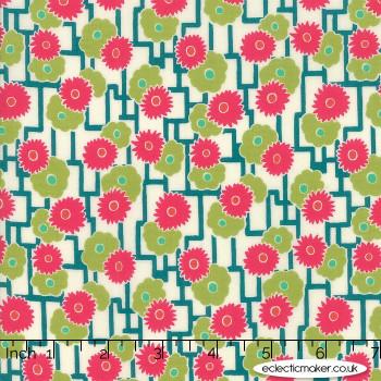 Moda Fabrics - Looking Forward - Rockpool in Pesto