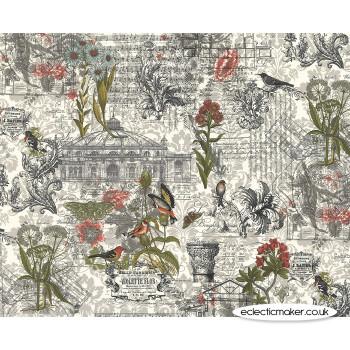 Moda Fabrics - Memoirs - Ephemera Collage in Multi