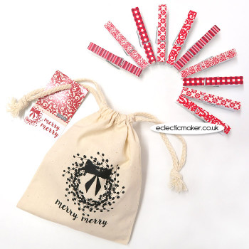 Moda Merry Merry Clothespins