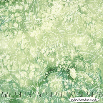 Moda Fabrics - Moody Bloom - Her Garden in Jungle
