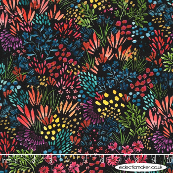 Moda Fabrics - Moody Bloom - Meadow on Black