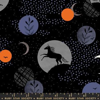 Ruby Star Society - Crescent - Unicorn Moon in Black