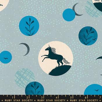 Ruby Star Society - Crescent - Unicorn Moon in Soft Blue