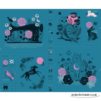Ruby Star Society - Crescent Fabric Panel in Teal