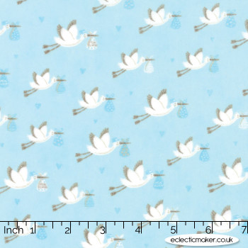 Moda Fabrics - Sweet Baby Flannels - Special Delivery in Sky